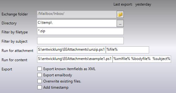 Use PowerShell from EEAttachments