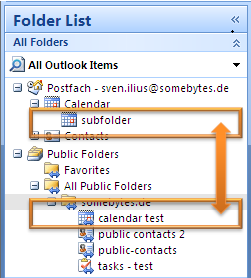 public folder in sync with subfolder